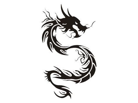 chinese dragon tattoo designs cool black tribal stencil