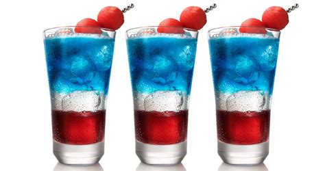 red white blue cocktails salute the stars and stripes