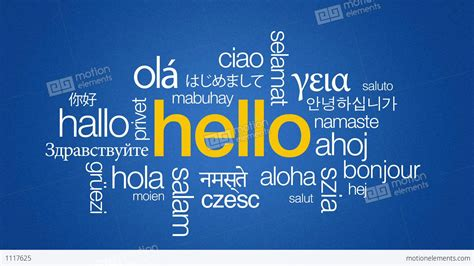 language th hello in different languages stock animation 1117625