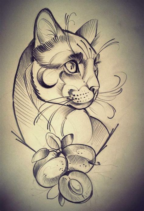 imagenes a lapiz de tattos tatuaje gato tatu gato 1 la loca de los gatos