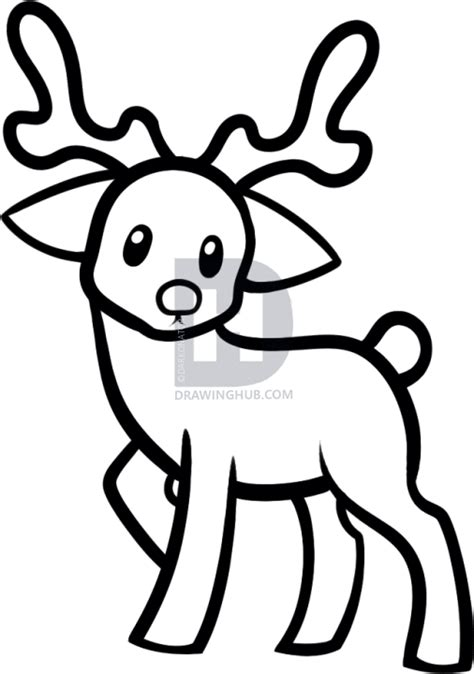how to draw a reindeer for kids step by step animals for