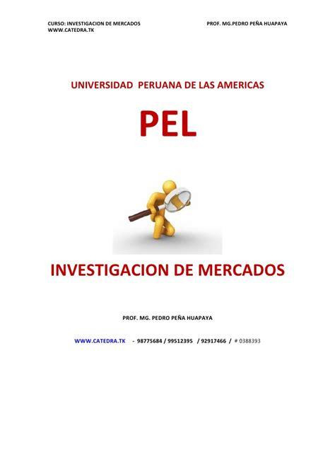 investigacin de mercado monografiascom investigacion de mercado
