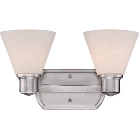 Bathroom Light Fixtures Brushed Nickel Finish | quoizel ayr8602bn ayers with brushed nickel finish bath
