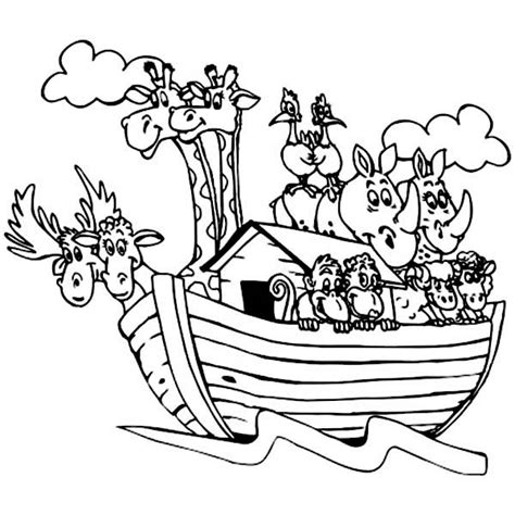 coloring book pages of noah s ark animal printouts for noah s ark noahs animals colouring