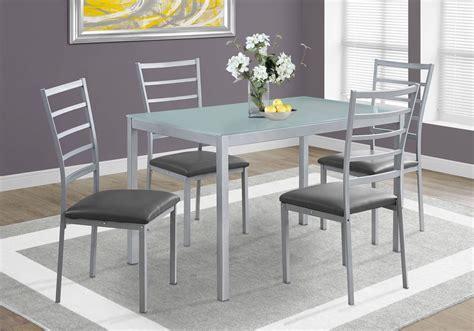 silver dining room sets silver 5 dining room set from monarch coleman