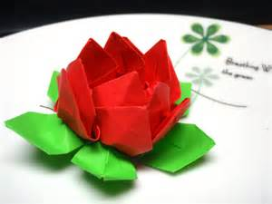How To Make A Lotus Flower Out Of Fabric Origami Lotus Flower Bag N Craft