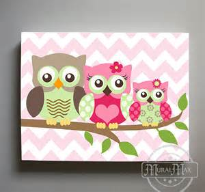 Owl Decor owl decor girls wall art owl canvas art owl nursery owl