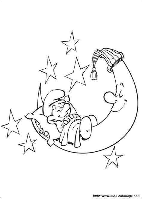 Kostenlose Vorlage Kündigung Sky Ausmalbilder Die Schl 252 Mpfe Bild Schlumpf Im Mond