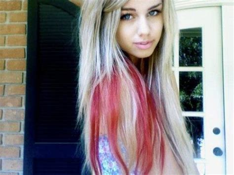 hairstyles blonde with red streaks blonde red hair long hairstyles how to