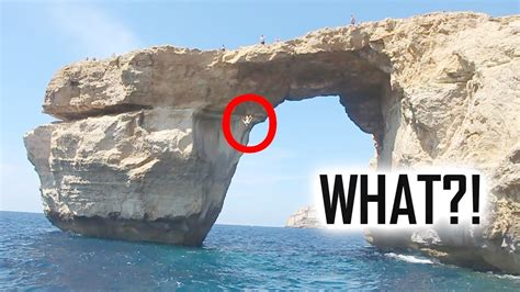 azure malta azure window is gone collapse cliffjumping the azure