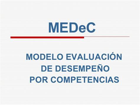 modelo de evaluaci 243 n de desempe 241 o por competencias