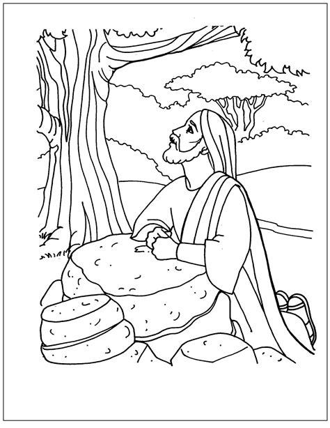 imagenes sobre la vida de jesus para colorear dibujos de jes 250 s orando en el huerto para colorear