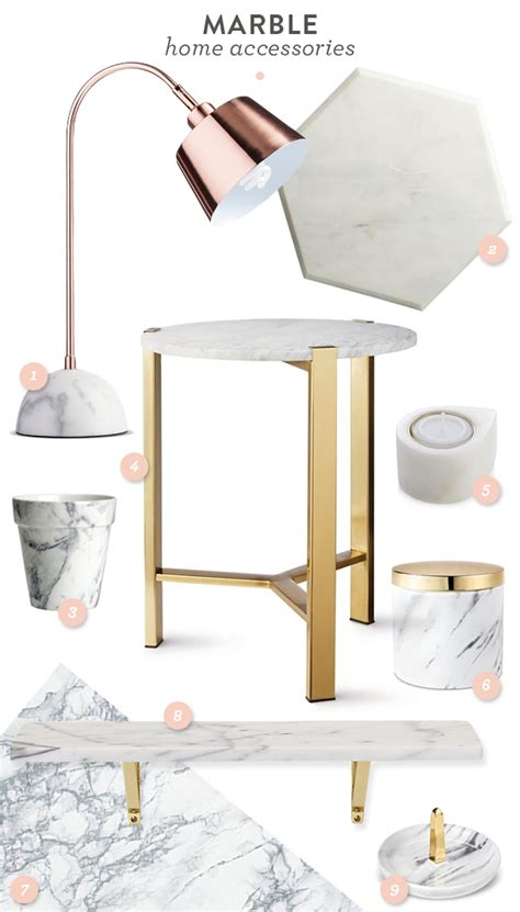 trend marble home accessories hearts