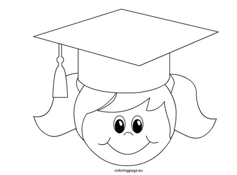 coloring pages for preschool graduation graduation cap coloring page image clipart images grig3 org