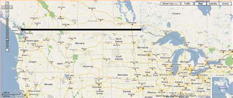 map of border between usa and canada border of canada and usa map my