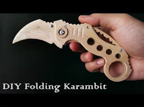 How To Draw Karambit Easy Way By Fqme Popsicle Stick Butterfly Knife Template
