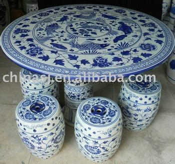 Antique Blue And White Ceramic Porcelain Garden Table And Stool With Design Buy Blue And White Porcelain Garden Table Stool