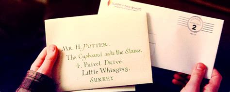 Harry Potter Acceptance Letter Gif Carta De Hogwarts Site Reserva