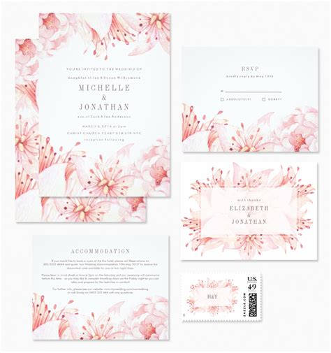 gorgeous modern vintage floral wedding invitations from