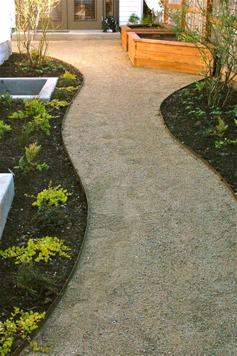 decomposed granite paths steel edging contemporary