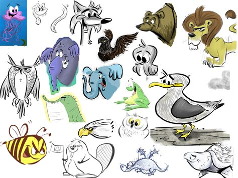 doodle animals cann s animal sketches doodles