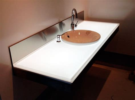 corian transluzent backlit corian led light panel counter top projects to