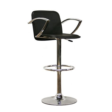 Cheap Black Bar Stools by Black Faux Leather Bar Stool By Wholesale