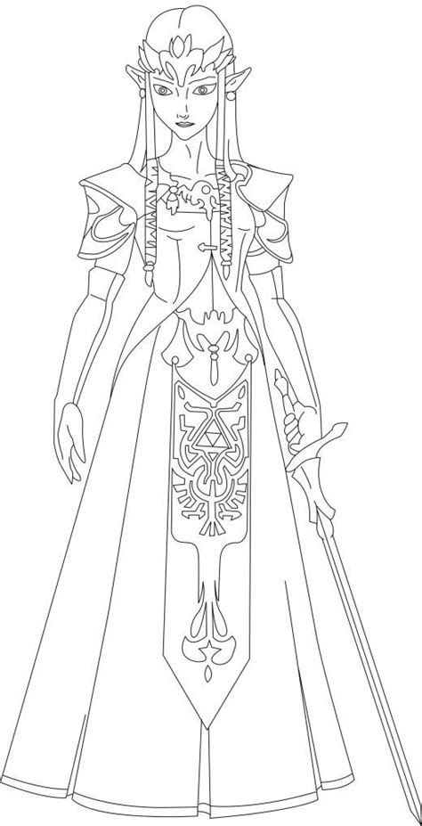 coloring page zelda zelda ocarina of time coloring pages