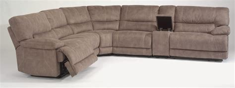 fabric reclining sectional flexsteel living room fabric power reclining sectional