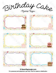 birthday cake templates free printable birthday cake name tags the template can