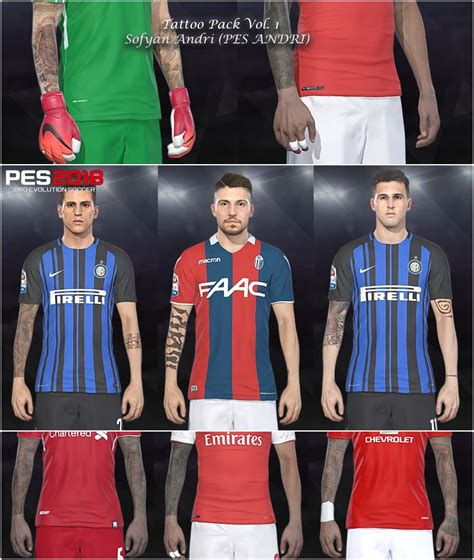 tattoo pack pes 2018 pes 2018 tattoo pack vol 1 by sofyan andri pes patch