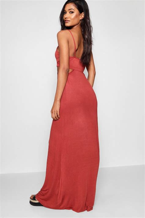 Strpy Maxy boohoo womens milly cut out strappy maxi dress ebay
