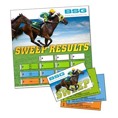 Sweepstakes Results - fundraising supplies australia sweeps kit horse racing fundraiser