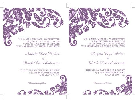 ways to word wedding invitations ms word wedding invitation template