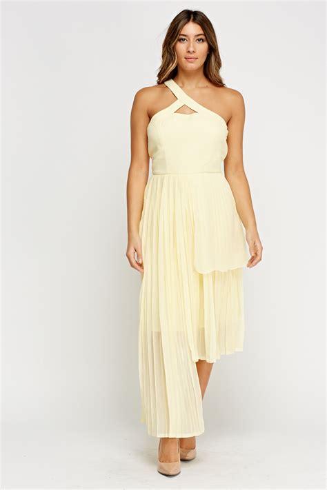light yellow dress asymmetric pleated light yellow dress just 163 5