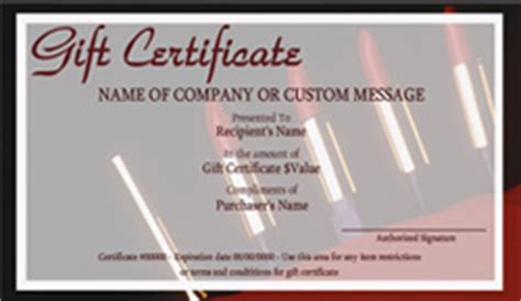Manicure Gift Certificate Template Template For Manicure Gift
