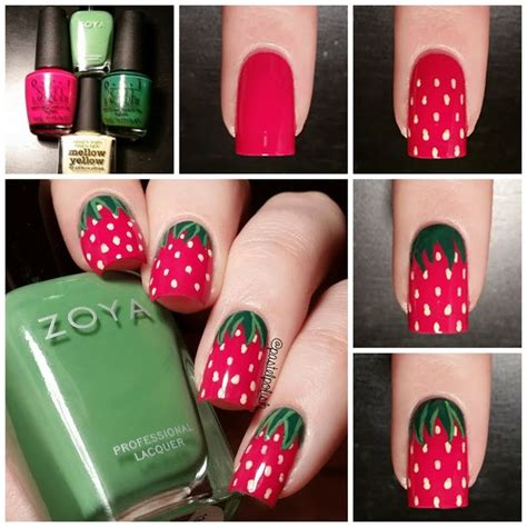 tutorial nail art strawberry easy nail art designs 2017 step by step in pakistan