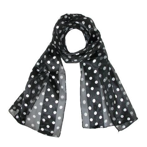 Polka Dot Scarf womens satin polka dot scarf by ctm beltoutlet