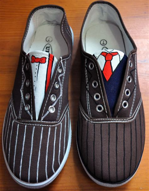 doctor who slippers doctor who shoes 10th and 11th by ligechan on deviantart