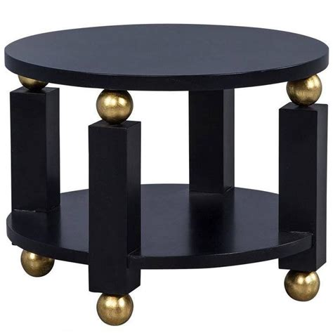 black and gold table l deco black and gold end table for sale at 1stdibs