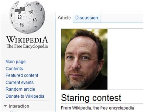 Wikipedia Donation Meme - image gallery jimmy wales stare