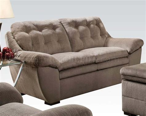 seal on couch 51020 devyn sofa in seal bonded leather match by acme