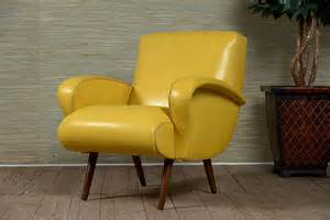 yellow arm chair mid century arm chair in yellow leather mecox gardens