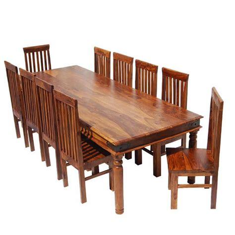 rustic lincoln study large dining room table chair set