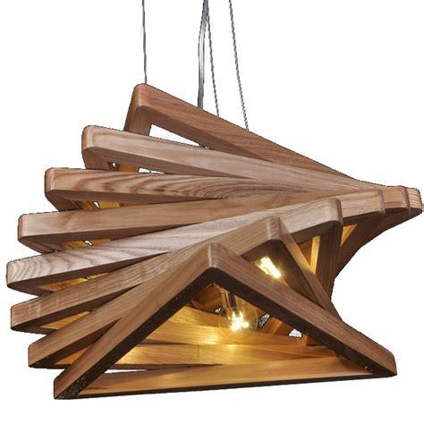wood ceiling light fixtures modern original wood triangles pendant lighting 10778