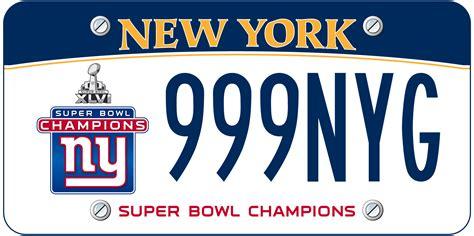 Ny Dmv Vanity Plates by New York Bowl Chionship License Plate