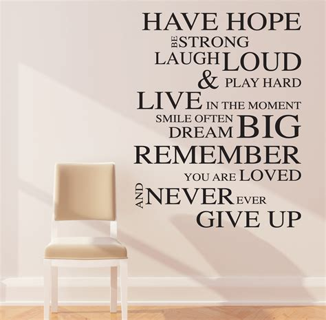wall stickers inspirational quotes inspirational wall stickers quotes decals
