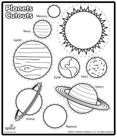 printable poster of the planets printable solar system coloring sheets for kids solar
