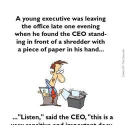 a executive was leaving the office joke