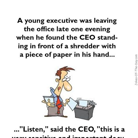 The Office Jokes by A Executive Was Leaving The Office Joke